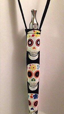 Lanyard KeyChain Sugar Skulls Skull Vapor Battery Case Holder e-cig ego eVod pen