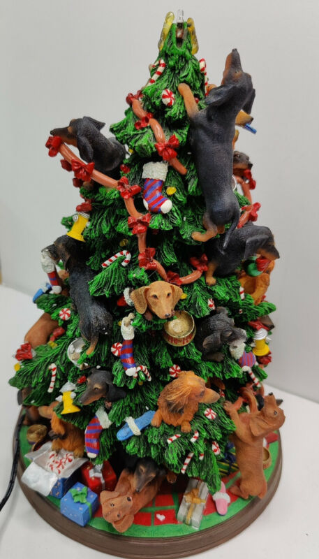 "Adorable Danbury Mint Dachshund 12"" Christmas Tree *AS IS*"