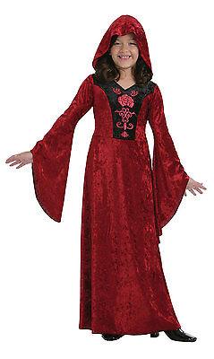Mädchen mittelalterlich rot mit Kapuze Gothik Spiel der Throne Halloween Hexe