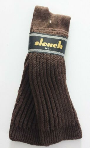 Vintage Unbranded Slouch Cotton Blend Socks Fits Sz 9-11 Brown NEW