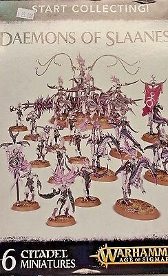 WH Age of Sigmar START COLLECTING DAEMONS OF SLAANESH Seeker Chariot Daemonettes, used for sale  Tipp City