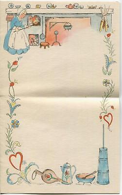 COLONIAL BUCKWHEAT PANCAKES RECIPE COFFEE POT 1  BOTANICAL THYME FLOWERS CARD (Flower Pot Recipe)