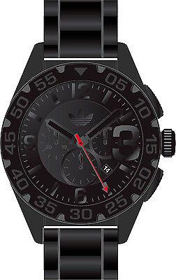 Adidas Newburgh Chronograph Black Dial Black Silicone Strap Mens Watch ADH2955