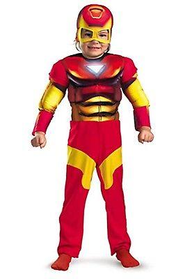 Iron Man Super Hero Squad Deluxe Jungen Muskel Kostüm Größe 2T