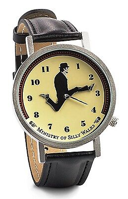 MONTY PYTHON WATCH Ministry of Silly Walks Wristwatch John Cleese ANIMATED