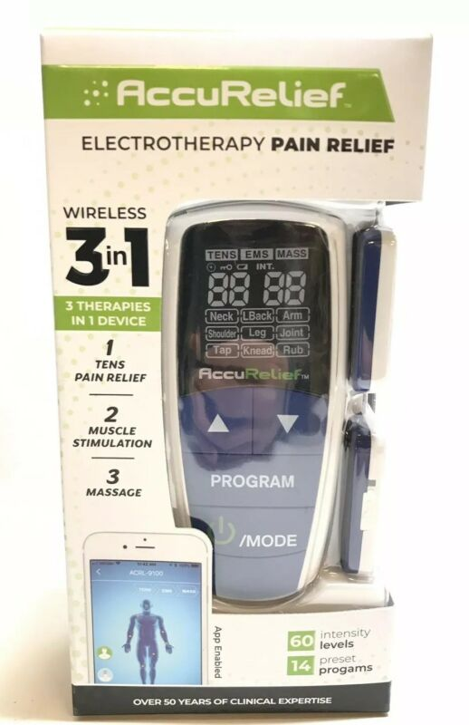 AccuRelief ACRL-9100 Wireless 3-in-1 Pain Relief Device exp 2021+ 1004