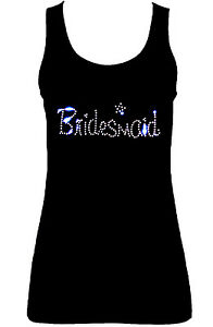 BRIDESMAID-WEDDING-HEN-NIGHT-CRYSTAL-RHINESTONE-VESTS-TANK-TOPS-all-sizes