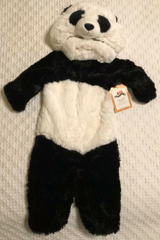 Pottery Barn Kids BABY PANDA Costume Toddler 12-24 Months Super Soft Hooded