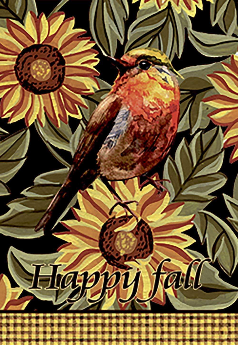 Morigins Double Sided Happy Fall Sunflowers House Yard Autum