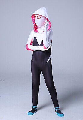 2019 Into the Spider-Verse New Design Gwen Stacy Spidergirl Costume Tights Kids  - Children Spider Costume