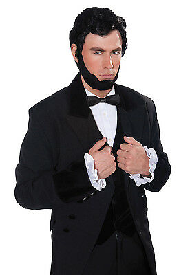 ABRAHAM #LINCOLN WIG & BEARD BLACK NATIONAL DRESS FANCY DRESS OUTFIT ACCESSORY