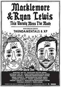 1x Macklemore and Ryan Lewis Brisbane Seating Ticket Robina Gold Coast South Preview