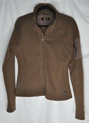 Mountain Hardwear Brown Sweater Fleece Jacket Womens L Large Better Knit