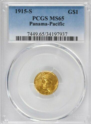 1915s Panama - Pacific gold $1 dollar MS65 PCGS