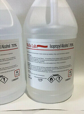 70 Isopropyl Alcohol 64oz Bottle Wells Lab Fast Reliable Shipping
