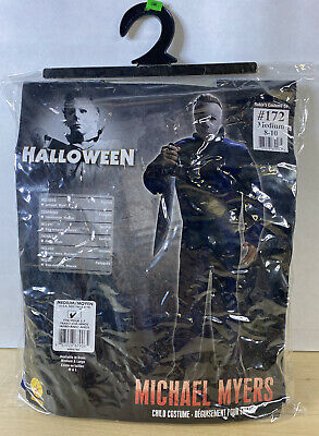 Michael Myers Costume Kids Scary Halloween Fancy Dress Medium Child (8-10)