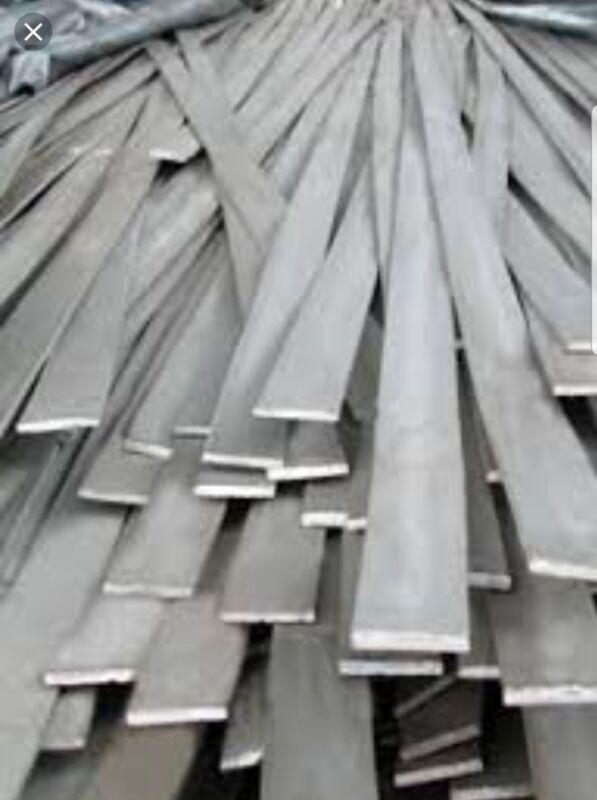 """1/8""""×1-1/4"""" A36 Steel Hot Roll Flat Bar 5 Pcs 12"""" Lengths"""