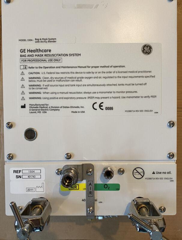 GE Healthcare 1504 BAG AND Infant Resuscitation System