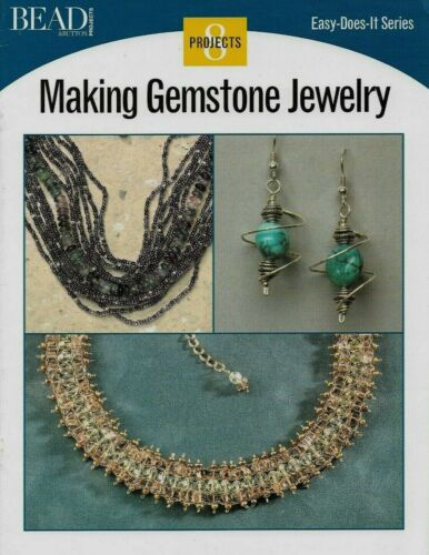 NEW MAKING GEMSTONE JEWELRY EASY DOES IT SERIES 8 DESIGNS BEADING PATTERN BOOK