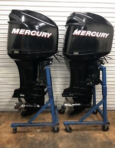 2007 Mercury 225hp Optimax 225 HP Outboard Motor opti max twin pair