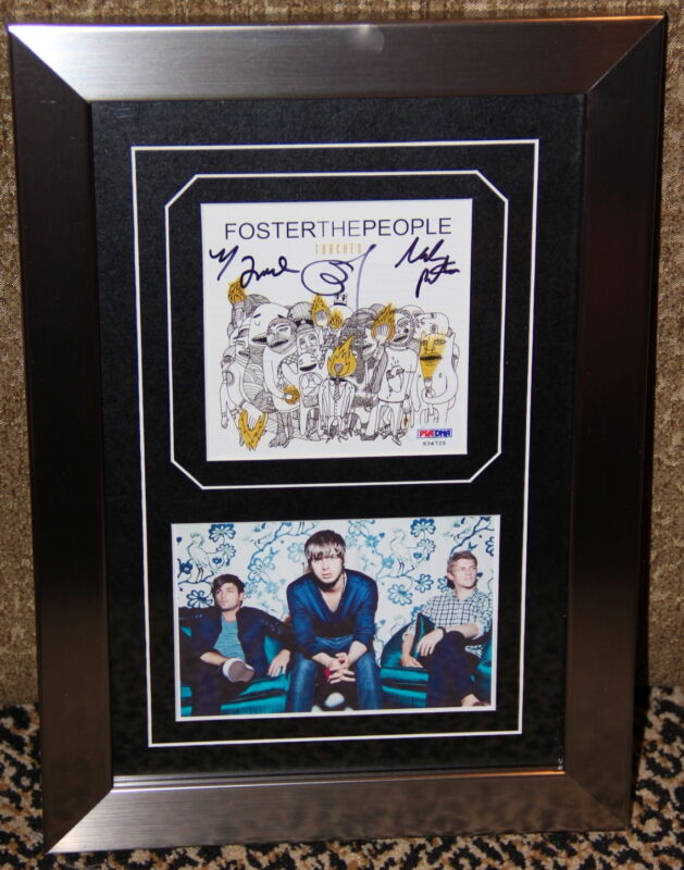 FOSTER THE PEOPLE signed autographed TORCHES CD photo FRAMED PSA DNA PUMPED UP