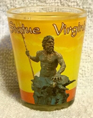 King Neptune Statue Virginia Beach, VA Boardwalk Souvenir Shot Glass