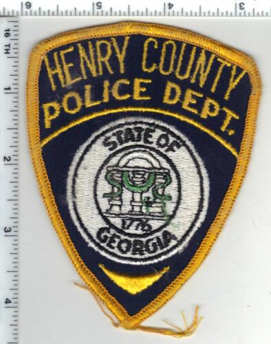 Henry County Police (Georgia) 1st Issue Shoulder Patch