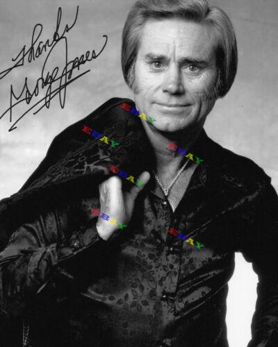 George Jones  Autographed  signed 8x10 Photo Reprint