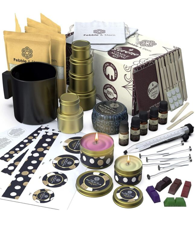 Soy Candle Making Kit for Adults (83 Pcs) - DIY Arts and Crafts for Adults
