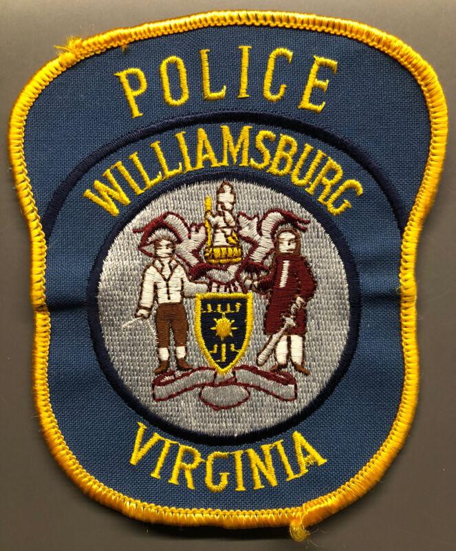 Williamsburg Virginia Police Patch