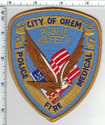 City of Orem Public Safety (Utah) 1st Issue Shoulder Patch from the 1980's