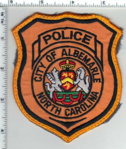City of Albemarle Police (North Carolina) 3rd Issue Uniform Take-Off Patch