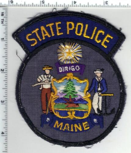 State Police (Maine) Uniform Take-Off Shoulder Patch from the 1970