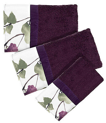 Jasmine Plum – 3-Piece Popular Bath Bathroom Pool, Hand, Wash Towel Set Bath
