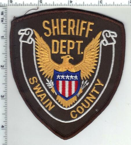 Swain County Sheriff (North Carolina) 1st Issue Uniform Take-Off Patch