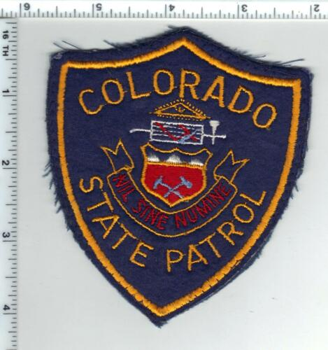 Colorado State Patrol Shoulder Patch - Felt uniform take-off from the 1970