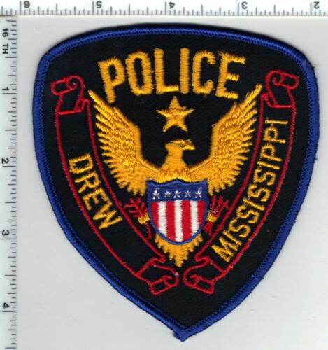 Drew Police (Mississippi) Shoulder Patch  from the 1980