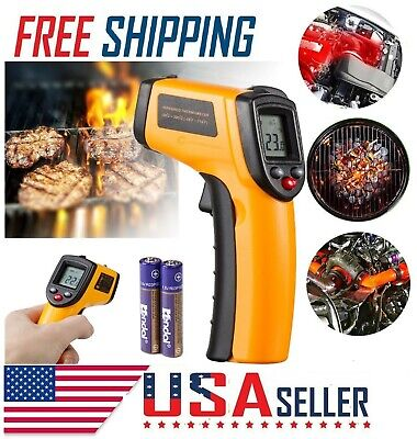Battery Digital Laser Ir Infrared Tempmeter Temperature Gun Thermometer