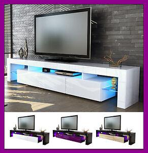 Meuble de rangement tv laqu table basse t l vision salle manger salon desi - Meuble bas salon design ...