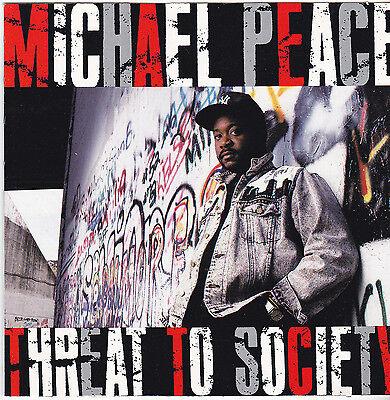 Michael Peace   Threat To Society   Cd  1991  Star Song  Christian Rap Hip Hop