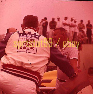Leader Car Racers Pit Scene - Indy Indianapolis 500 - Vintage 120mm Slide Indy 500 Racers