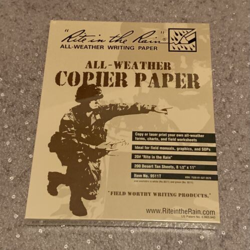 9511T Rite in the Rain All-Weather Copier Paper - 200 Sheets