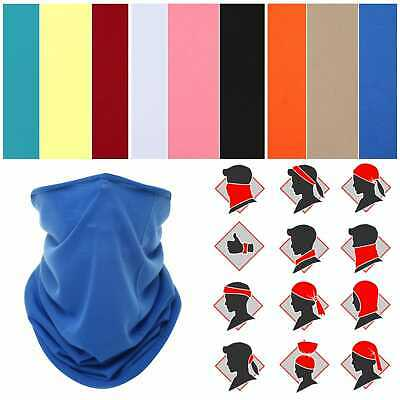 Multi use Balaclava Cycling Biker Neck Tube Scarf Face Mask Warmer Bandanna UK