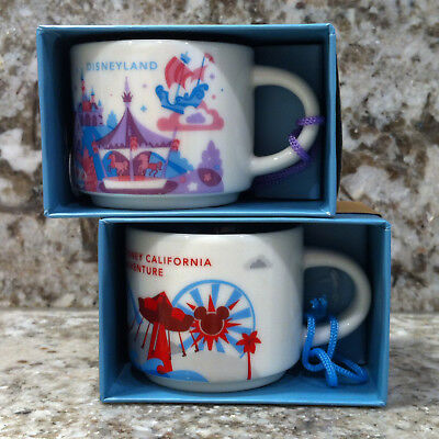 Disneyland & Disney's California Adventure Starbucks Mug Ornament Set - 2 oz