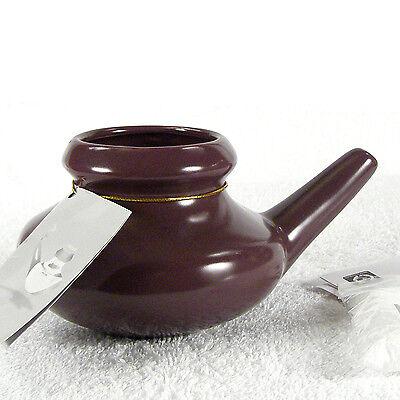 CERAMIC NETI POT nasal rinse sinus Allergy yoga irrigation natural sinus -