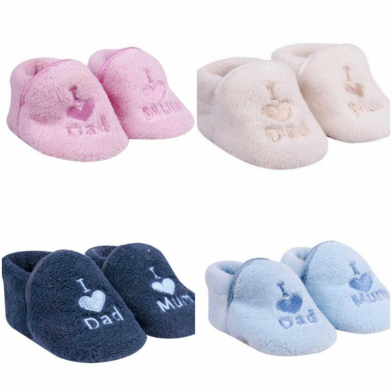 2er Pack Baby Mädchen/Jungen Schühchen Schuhe Plüsch 0-6 Monate 6-12 Monate