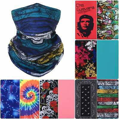 Tube Balaclava FACE MASK Neck Warmer Scarf Biker Bandana Buff Snood SEAMLESS Ski