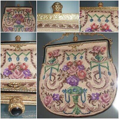 1920s Style Purses, Flapper Bags, Handbags VINTAGE TAPESTRY BAG CIRCA 1920'S - GOOD CONDITION $109.87 AT vintagedancer.com