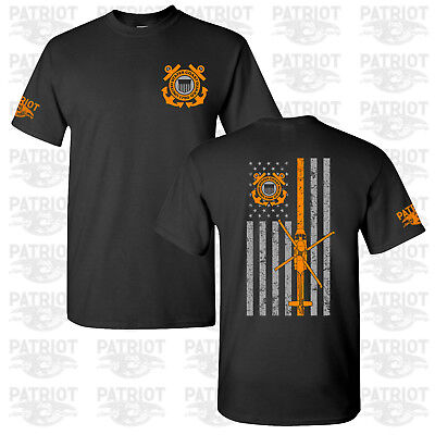 Us Coast Guard Shirts (United States Coast Guard USCG U.S. Veteran T-shirt Tee Military Thin Line  )