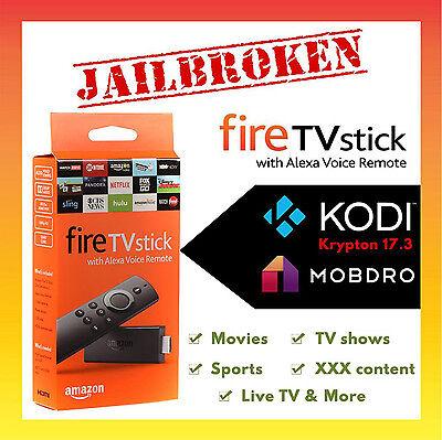 Amazon Fire Stick Jailbroken Unlocked Fully Loaded Kodi 17.3 - 2nd Gen Quad Core